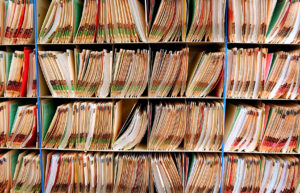rows of medical records